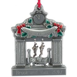 Personalized Pewter Our First Christmas Fireplace Ornament