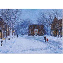 Winter Snowfall in Nantucket Holiday Cards