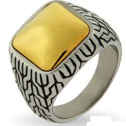 Men's Designer Inspired Gold Cushion Bali Ring