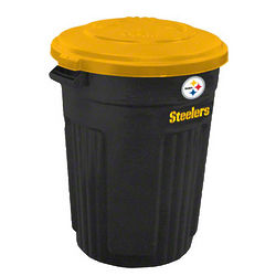 Pittsburgh Steelers Trash Can