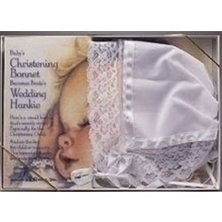 Lace Baby Bonnet and Bride's Hankie