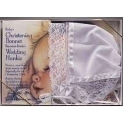 Lace Baby Bonnet and Bride's Hankie