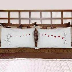 Sending a Kiss Romantic Pillowcases