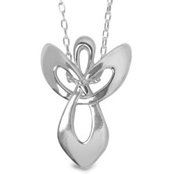 Recycled Silver Collection Angel Necklace