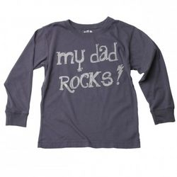 Toddlers My Dad Rocks Long Sleeve T-Shirt