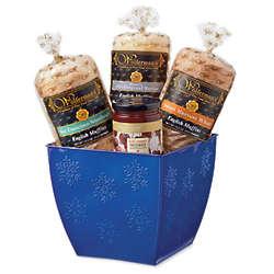 Winter Wonderland English Muffin Tin Basket