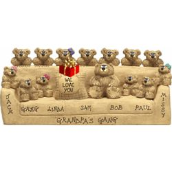 Personalized We Love Grandpa Couch Family Bears Figurine