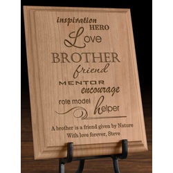 Personalized A Sibling Is Wooden Plaque