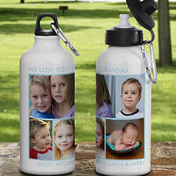Personalized Photo Collage Water Bottle