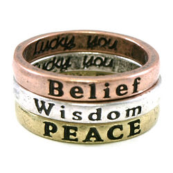 Inspirational Stackable Ring Set