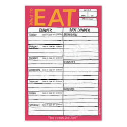 What to Eat Hand-Lettered Pad with Magnet