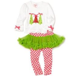 Toddler Girl's Triple Tree 2 Piece Outfit