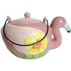 Pink Flamingo Teapot