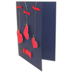 For You Hanging Hearts Greeting Card