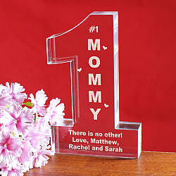 Personalized # 1 Mom Keepsake