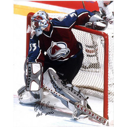 Patrick Roy Autographed Photo with Hall of Fame Inscription