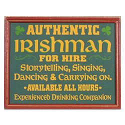 Irishman for Hire Sign