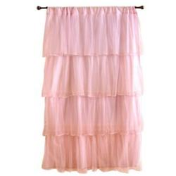 Pink Tulle Curtain Panel