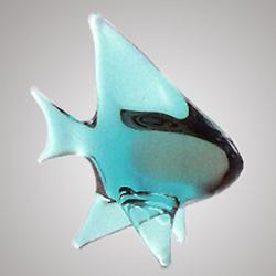Czech Glass Swimming Fish