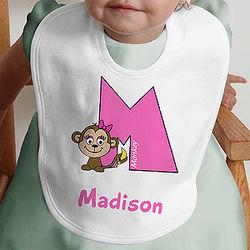 Girl's Alphabet Animals Infant Bib