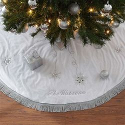 Season's Sparkle Embroidered Tree Skirt