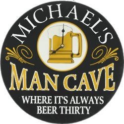 The Man Cave Personalized Wall Clock