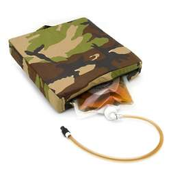 Camo Sippin Seat with Hidden Flask