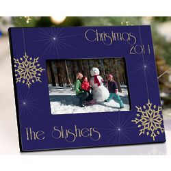 Personalized Evening Snowfall Frame