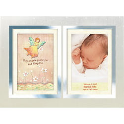 Personalized Guardian Angel Double Clear Photo Frame