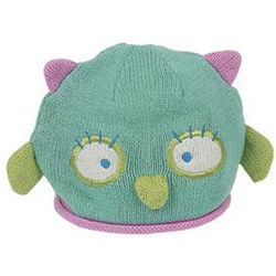 Baby Girl's Knit Owl Hat
