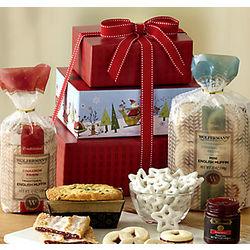 Christmas Cheer Breakfast Gift Tower