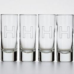 Personalized Script Font High Rise Shot Glasses