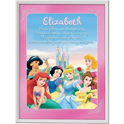 Personalized Framed Disney Princesses Wall Art