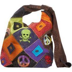 Vintage Hippie Skulls Hobo Handbag