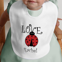 Love Bug Personalized Baby Bib