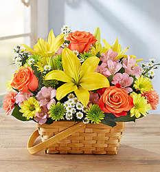 Large Fields of Europe Bouquet in Basket