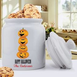 Personalized Halloween Cookie Jar