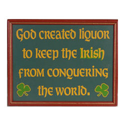 God Created Liquor Sign