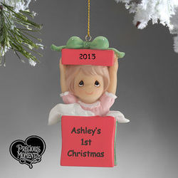 Precious Moments Personalized Baby Girl Christmas Ornament