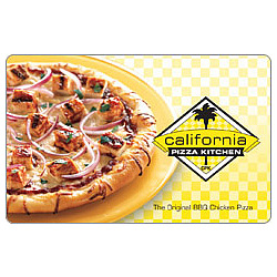 California Pizza BBQ Pizza Gift Card