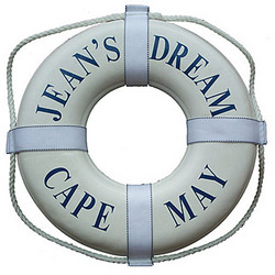 "Personalized 19"" Coast Guard Approved Life Ring"