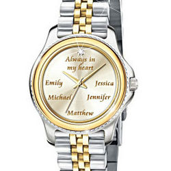 Always in a Mother's Heart Personalized Diamond Watch
