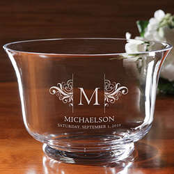 Wedding Wish Personalized Crystal Bowl