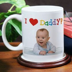 I Love Personalized Photo Mug