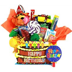 Happy Birthday Bear and Candy Assortment