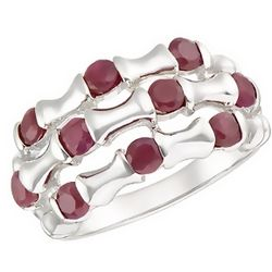 1 1/5 Carat Ruby and Sterling Silver Ring