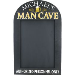 Man Cave Personalized Chalkboard