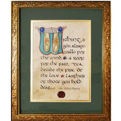 Matted and Framed Irish House Blessing