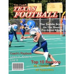 Texas Football Personalized Magazine Cover