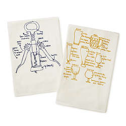 Wine and Beer Tea Towels